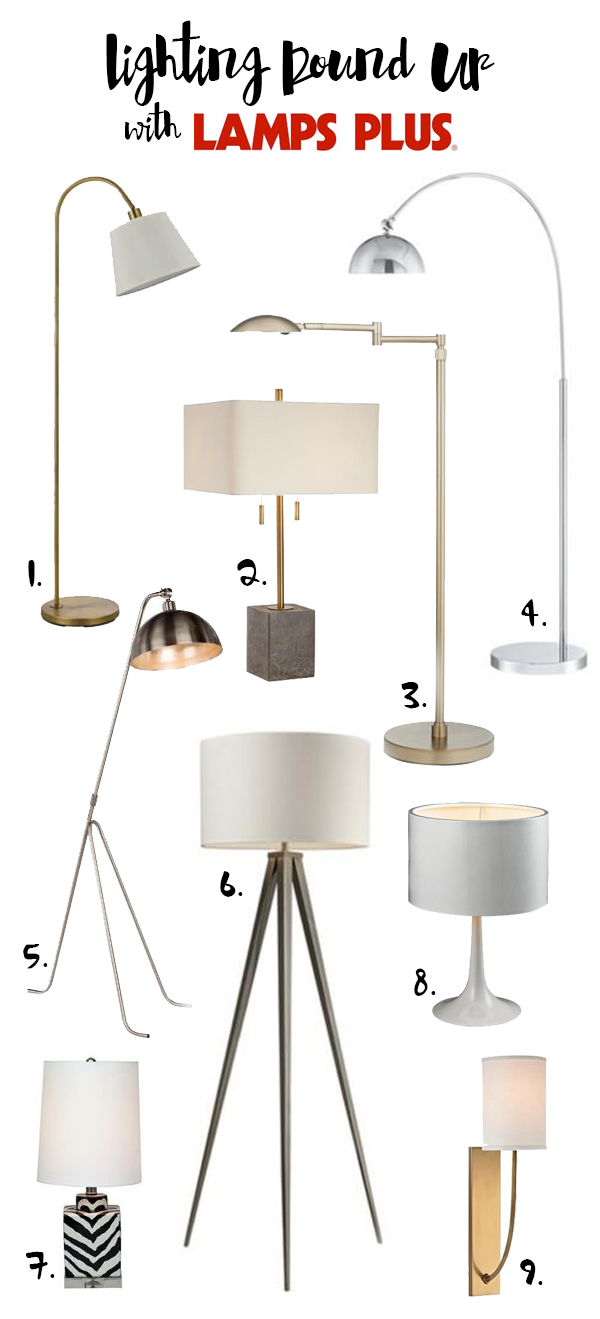 The Brunette One Lamps Plus Lighting Round Up copy
