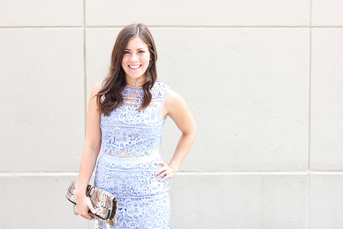 The Brunette One // Hollow Lace Dress
